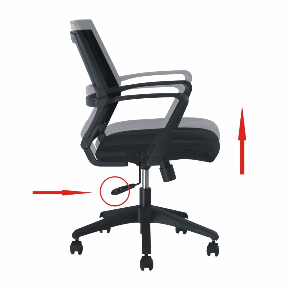 ergonomic executive mid back mesh office chair with adjustable height. aliexpress.com : buy langria mid back black mesh swivel ergonomic computer gaming desk task lumbar chair executive office height adjustable from with