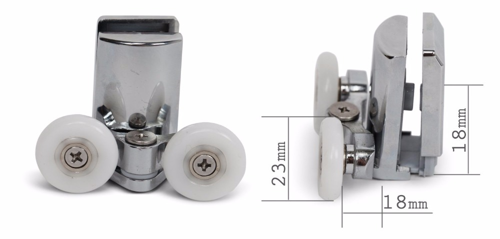 Set Of 4 New Shower Door Rollers 2 Height Adjustable Top 2 Sprung Quick Release Lowers