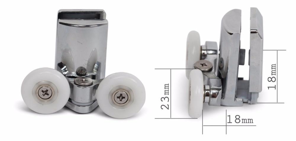 Set Of 4 New Shower Door Rollers 2 Height Adjustable Top 2 Sprung Quick Release Lowers