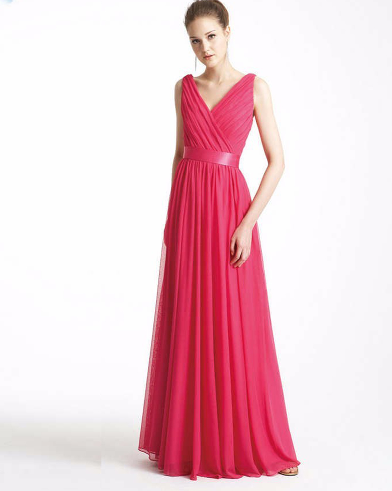 Aliexpress buy jark tozr brautjungfernkleid v neck tank aliexpress buy jark tozr brautjungfernkleid v neck tank shoulder watermelon chiffon simple bridesmaid dresses 2017 vestidos de madrinha from reliable ombrellifo Image collections
