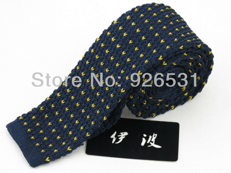 Necktie Retro Style55 Cm Widenavydark Bluegolden Heart Shaped