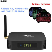 KuWFi Smart TV Android 7.0 Smart TV Box Allwinner H6 4GB DDR3 32GB EMMC Set Top Box 2.4GHz + 5.8GHz WiFi Bluetooth5.0 4K Player
