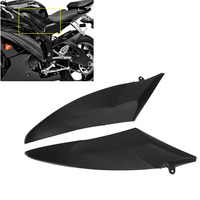 2x Black Motorcycle Bike Tank Side Panel Cover Fairing Cowling Plate Covers For Yamaha YZF R6 / YZFR6 / YZF R6 2006 2007 #MBJ050