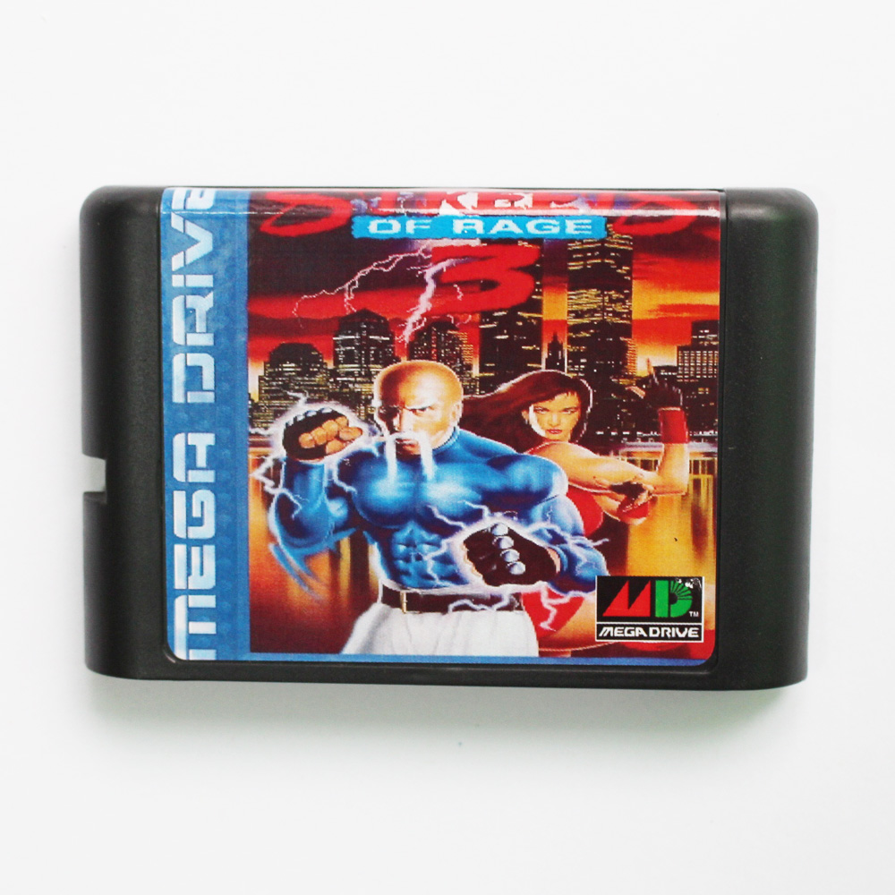 Streets Of Rage 3 Game Cartridge Newest 16 bit Game Card For Sega Mega Drive / Genesis System