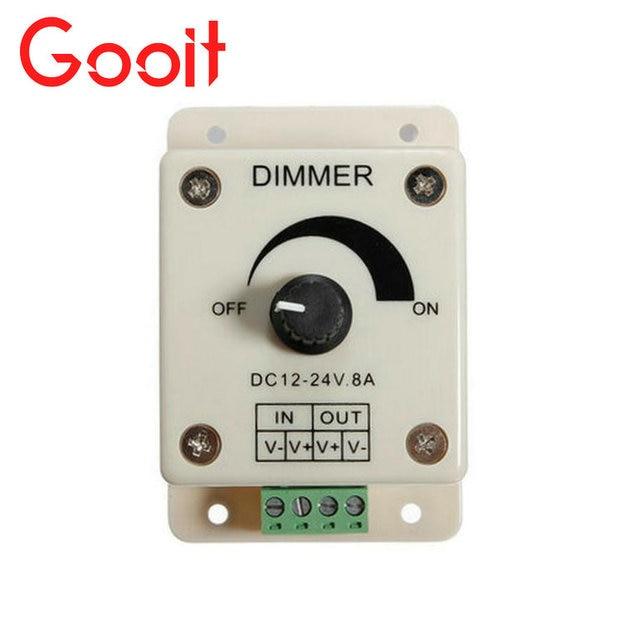 Led strip lights dimmer adjustable dimmer switch control dc 12v 8a led strip lights dimmer adjustable dimmer switch control dc 12v 8a for single color led strip mozeypictures Images