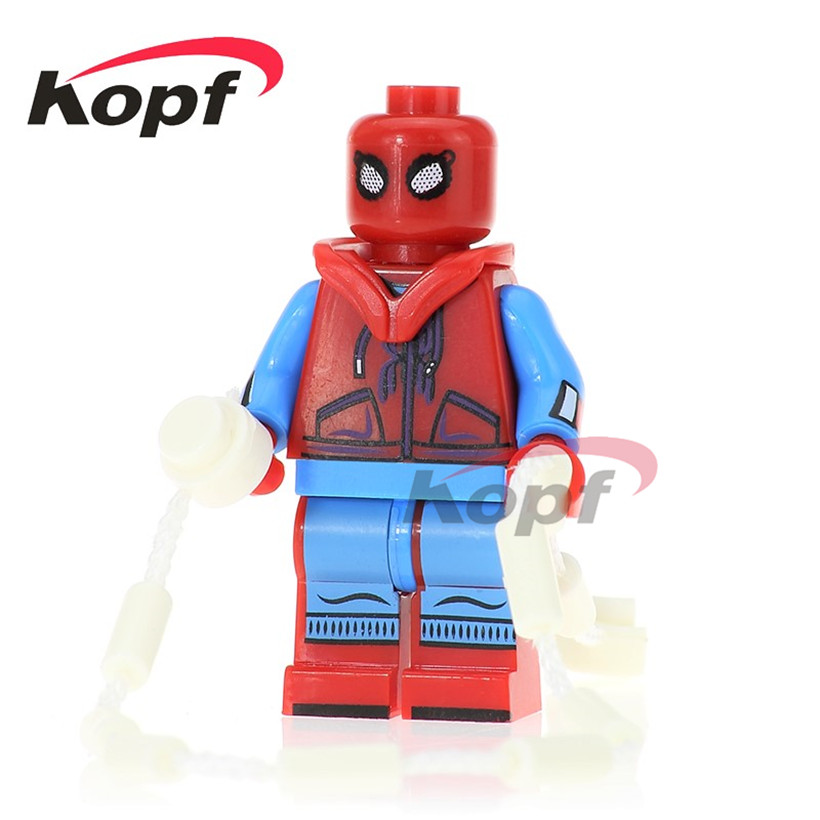 Single Sale Spiderman Homecoming Spider-Man Ghost Rider Matt Murdoch Model Super Heroes Building Blocks Children Gift Toys PG260