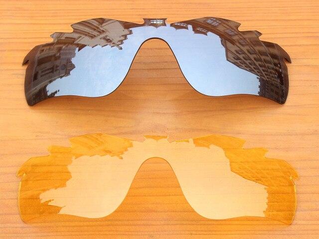 Хром Серебро и Желтый Кристалл 2 Шт. Вентилируемый Замену Линзы Для RadarLock Путь Солнцезащитные Очки Кадров 100% UVA и UVB Защиты