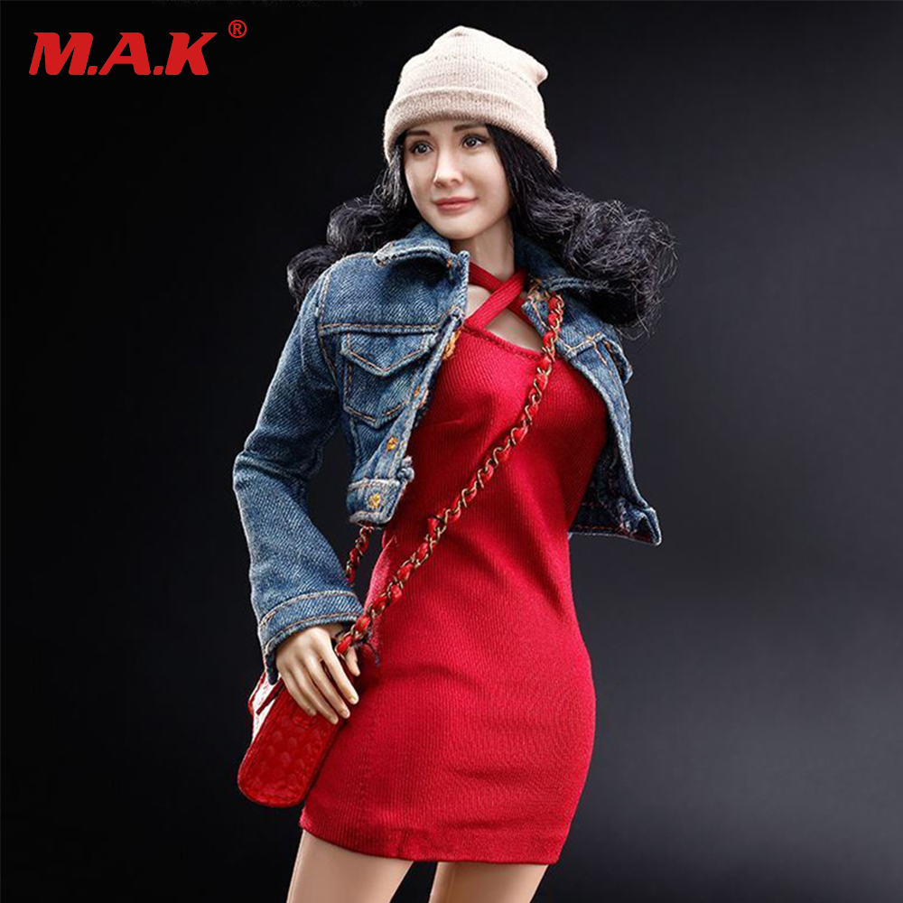 1/6 scale Asia movie star girl Yang Mi curly hair female girl lady head sculpt with body figure FX06B without the clothing set 1 6 fs010 phoebe agent kristen stewart american ultra movie full sets figure with head sculpt female body shoes jeans model m3n