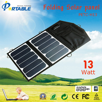 Mini Sunpower tariff-free13W solar mobile charger+USB regulator directly for iPhone,iPad,table,power bank etc.(PETC-H13)