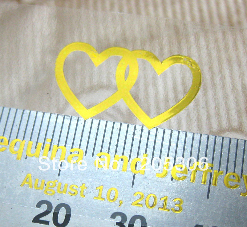 2000pcs lot 5x3cm Gold foil HOT STAMPING clear PVC Self adhesive Label Sticker with your own