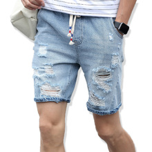 2017 Men Shorts Brand Summer New Jeans Plus Size Fashion Designers Cotton Mens Slim