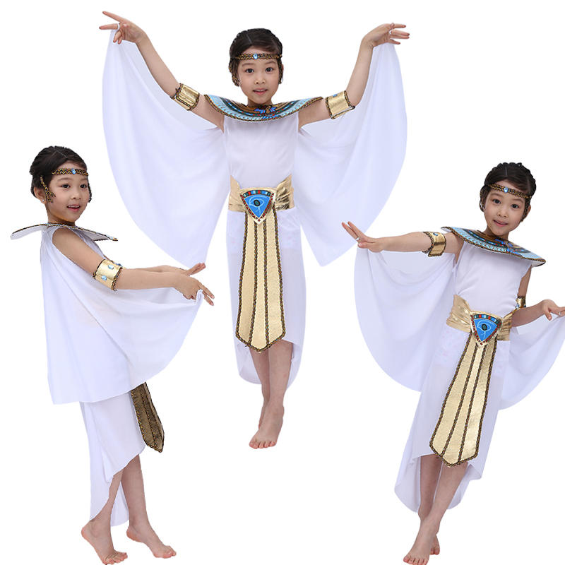 Free shipping new  Children Halloween Cosplay Masquerade queen Cleopatra costume for girls Princess costume