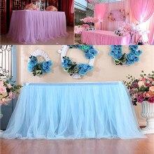 Tul tutú Mesa falda vajilla paño Baby Shower cumpleaños boda fiesta festiva decoración del hogar Dropshipping/C