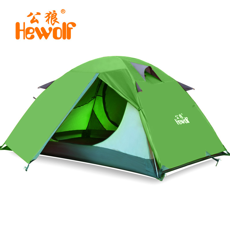Outdoor Portable  Double Layer Camping Tent  3-4 Person Waterproof lightweight Beach fishing hunting Tente tentda Picnic Party outdoor double layer camping tent family tent 3 person beach garden picnic fishing hiking travel use