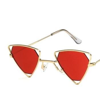 Yoovos 2019 New Punk Sunglasses Women Triangle Oculos New Vintage Glasses Openwork Metal Frame Fashion Sun Glasses Men Okulary 12