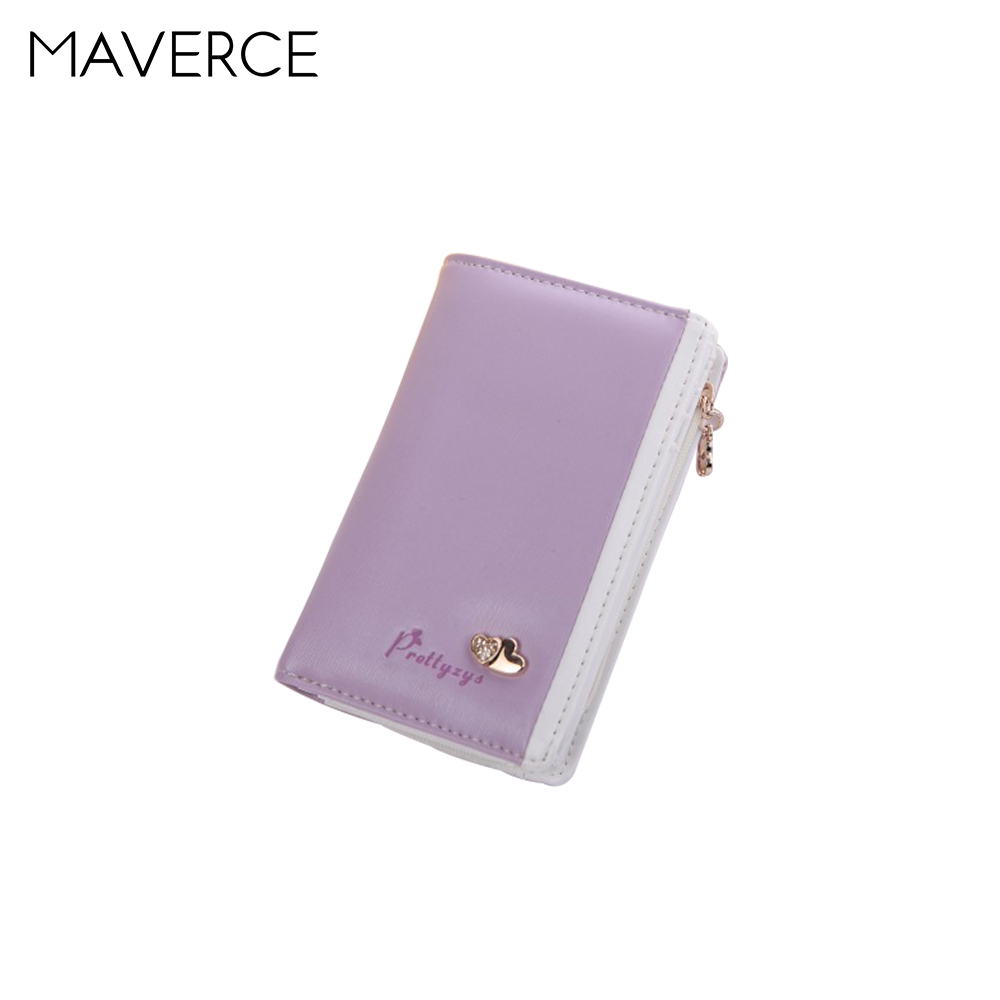3 Color Korean Style fashion students Wallets zipper Womens Purse short Design High capacity Ladies Wallet PU Leather Card Hol