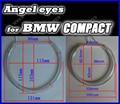 Бесплатная доставка CCFL angel eyes halo кольца автомобилей свет фар наборы для BMW E46 Компактный супер яркий ccfl освещение автомобиля