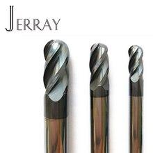 6mm, 8mm, 10mm, 12mm hrc45 carboneto sólido 4 flautas fresas de extremidade do nariz da bola espiral ferramentas de fresagem do bocado do cnc bits