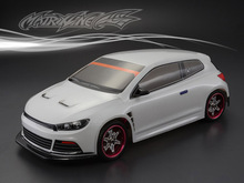 1set VW SCIROCCO R 1/10 drift RC PC body shell 195 width Transparent clean no painted drift body RC hsp hpi trax Tamiya aluminum magnetic stealth invisible body post mount kit for 1 10 rc touring car drift hsp sakura d3 xis zero s cs hpi tamiya