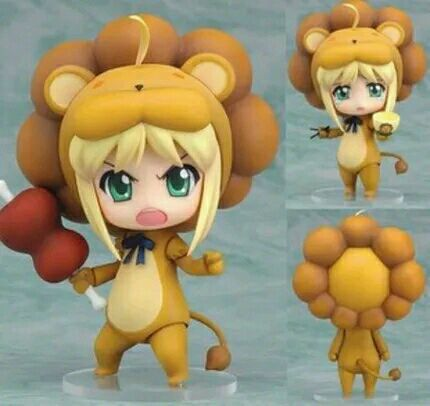 Fate Stay Night Saber lion Action Figures PVC Collection Figures toys for christmas gift with retail box new hot 17cm avengers thor action figure toys collection christmas gift doll with box j h a c g