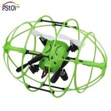 RC Zangão 2.4G 6-Axis Gyro RTF Mini helicóptero de Controle Remoto Quadcopter 360 Graus Sacode Rugby Football Com 3D Flips e Parede escalada