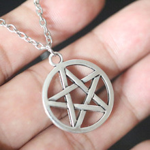 цены Pentagram Pendant Necklace For Women Christmas Gifts Vintage Wiccan Pagan Gothic Necklaces Choker Collier Bijoux Supernatural
