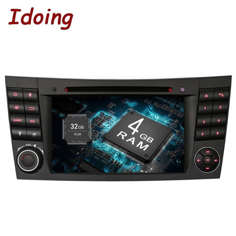 Idoing Android8.0/4g + 32g/8 Core Volant Pour MercedesBenz Classe E W211 Voiture Multimédia lecteur Vidéo WiFi 3g TV Rapide Boot