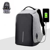 USB Charge Anti Theft Backpack Men Travel Security Waterproof School Bags College Teenage Male 15inch Laptop