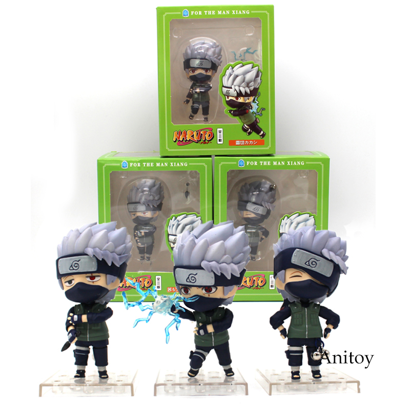 Nendoroid Naruto Hatake Kakashi for The Man Xiang PVC Action Figure Collectible Model Toy 3pcs/set 10 cm free shipping 12 naruto anime ninja copiador hatake kakashi light blade stand boxed 30cm pvc action figure collection model toy