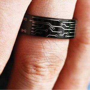 Image 5 - مجوهرات الأزياء خاتم الزفاف للنساء رجل بسيط الكلاسيكية لوحة دوائر كهربائية تصميم خاتم تنجستين أسود رجل الحب خواتم الخطبة