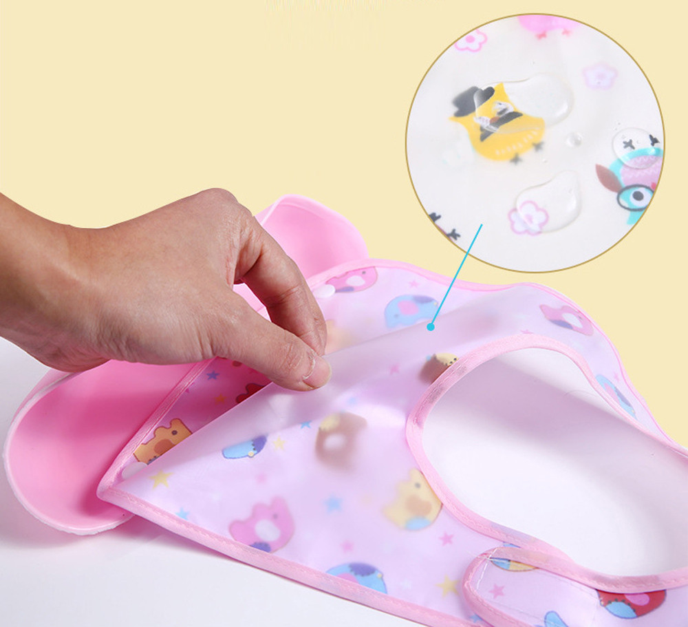 Good Baby Cute Detachable Kids Boys Girls Waterproof Feeding Apron Saliva Towel Bib Smock Baby Bibs For Lunch New Arrival Boys' Baby Clothing