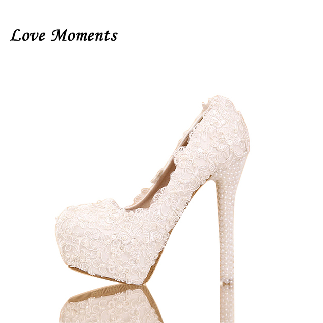 Asthetische Spitze Perle Schuhe Frau Handgemachte Hochzeit Schuhe