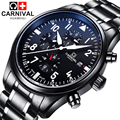 Luxury Brand Carnival pilot series Automatic mechanical watches Stainless Steel Men's Casual Watch military Waterproof Watches