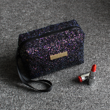 2019 Shining Makeup Bag Messenger Womens Handbags for Cosmetic Sequin Women Fashion Wallet Free Shipping