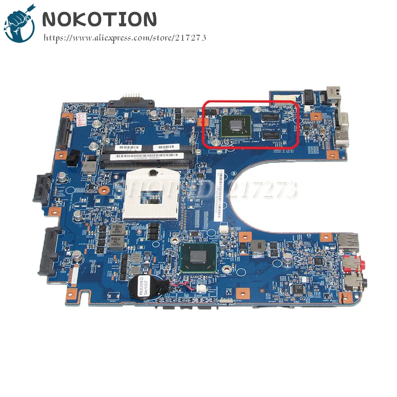 NOKOTION A1829664A For Sony VAIO VPCEH VPCEH-111T Laptop motherboard MBX-249 48.4MQ01.01M HM65 DDR3 GT410M graphics card цена