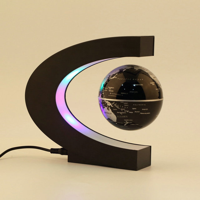 Electronic Magnetic Levitation Floating Globe Antigravity magic/novel light Birthday Gift Xmas Decoration Santa Decor Home