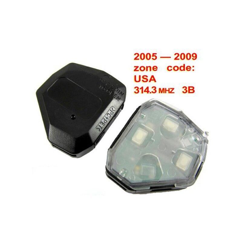 3 кнопки дистанционного Управление для Toyota Camry 314,3 мГц