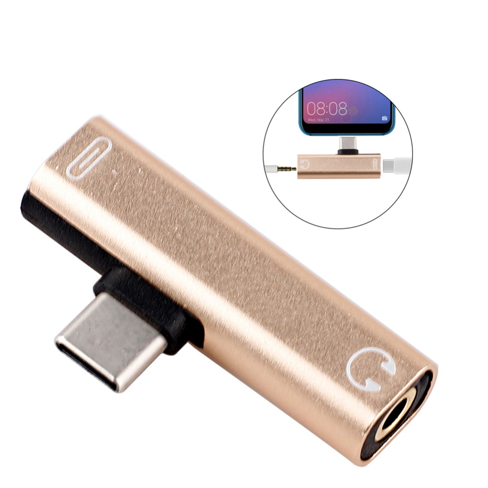 1pcs USB Type-C To 3.5mm Jack AUX Headphone Audio Splitter Converter Adapter Cable High Speed To Aux Audio Cable 3.5 Headphone