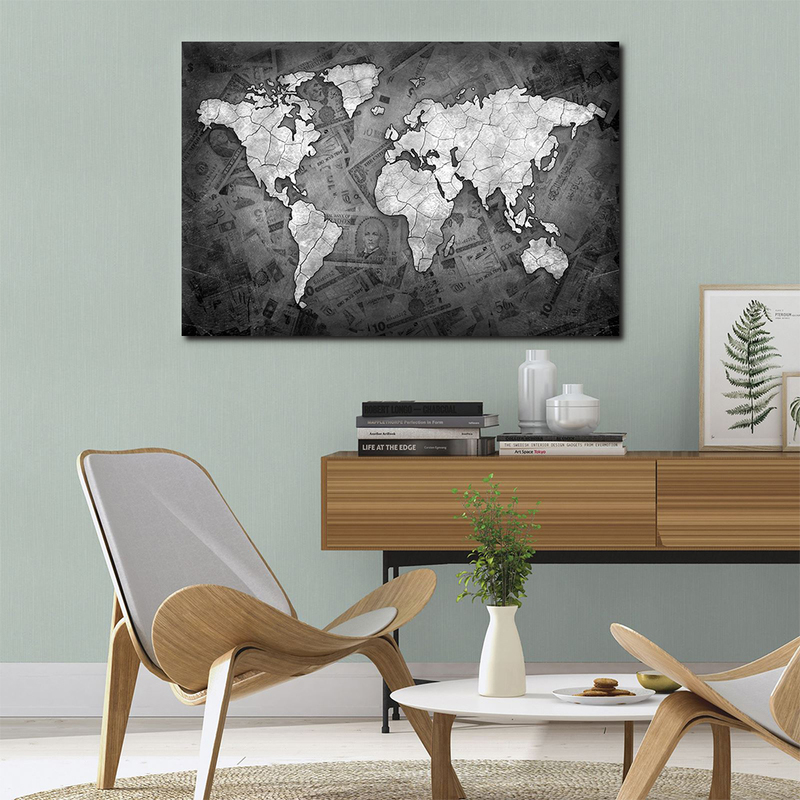 One Pieces World Map Poster HD Canvas Prints Paintings Abstract ...