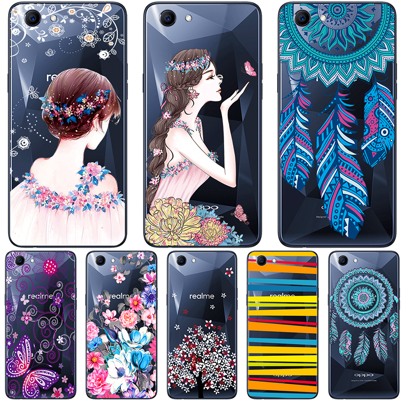 online store d2416 3851d Phone Cases For Oppo F5 Plus F7 A83 Realme 1 Case OPPO F7 Youth A73S A73 A1  Cover Transparent Painted Silicone Soft TPU Bumper
