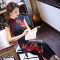 2017 New Hot Qipao National Trend Chinese Style Dress Modal Long Cheongsam Long Evening Dress Vestido Chinese Oriental