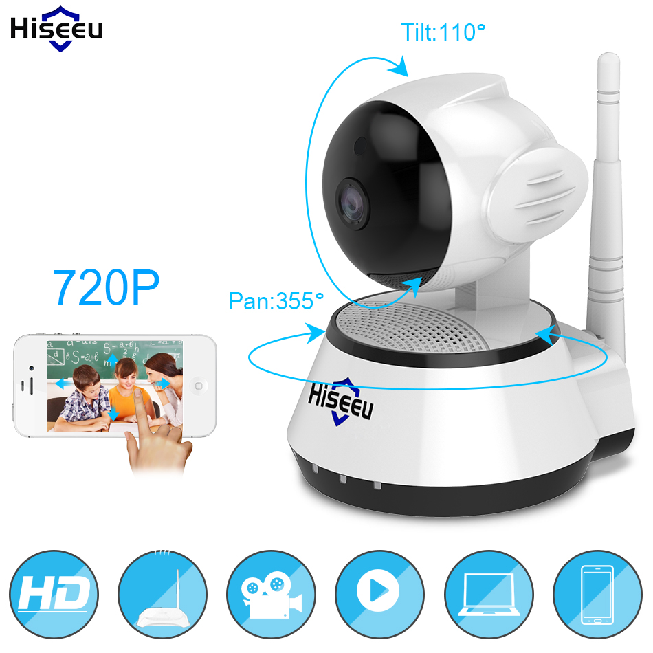 Home Security IP Camera Wireless WiFi Intelligente Fotocamera WI-FI Audio Record di Sorveglianza Baby Monitor HD Mini Macchina Fotografica del CCTV Hiseeu FH2A