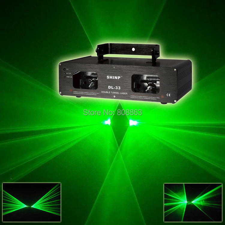 New Double Green Laser Lines Scan Beam Full Color DMX512 DJ Dance Bar Xmas Party Club Disco Effect Stage Lighting Light Show S14