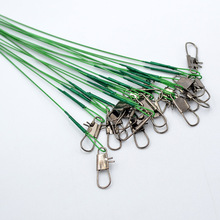 20 pcs/lot Stainless Steel Wire Leader 15cm/21cm/30cm Fishing Line Leash With Swivel Snap Tackle Lure B228