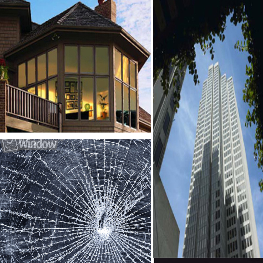 39''x 50' Glass shatter resistant films Security Window Films 4mil thickness for bombings, crimes, earthquakes, explosion 50x152cm safety film 4mil thickness transparent security glass protective tint film for window bathroom glass shatter proof