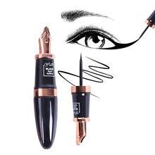 Music Flower Fountain Pen Shape Palette Lash Rose Eyelash Liqiud Eyeliner Pencil Anti-sweat Anti-oil Matte EyeLiner Black Eyelid