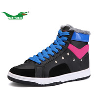 LANTI KAST Winter Women Sneakers New Arrival Fur High Top Comfortable Sport Shoes For Girls Durable