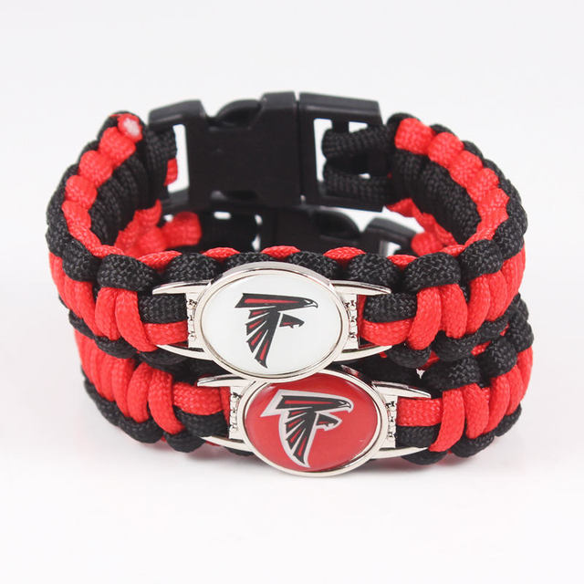 Paracord Survivor Bracelet Atlanta Falcons Jewelry For Fans Friendship Bracelets 10pcs Lot
