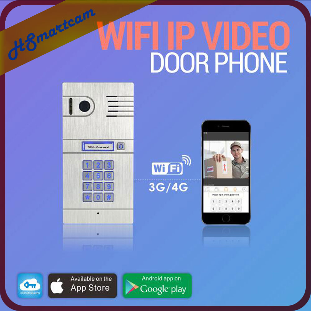 New Wireless WiFi IP Doorbell Camera Video Phone 4G WIFI Door bell Night Vision IR HD Explosion Proof alloy Cam for IOS Android new wireless ip doorbell with 720p camera video phone wifi door bell rfid code keypad night vision hd cameras for ios android