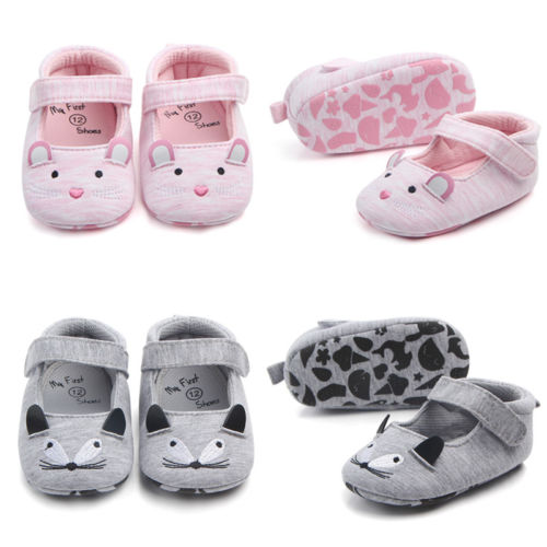 USA Toddler Newborn Baby Girl Soft Crib Shoes Anti-slip Pram Prewalker Sandals